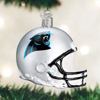Carolina Panthers Helmet NFL Glass Ornament   New In Box