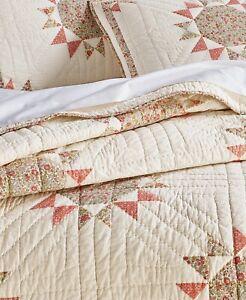 Martha Stewart Collection Artisan Sunburst Patchwork Twin Quilt, (Quilt Only)