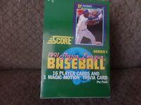 1991 Score Series 1 Major League Baseball Cards Box of Wax  Packs