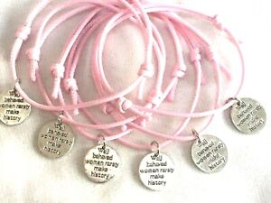 6 HEN PARTY PARTY BAG GIFT FILLERS FRIENDSHIP BRACELETS HEN GIFTS, FAMOUS QUOTE