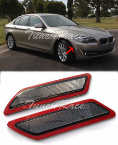 For 11-13 BMW F10 5-Series Bumper CRYSTAL SMOKE Reflector Side Marker Lights