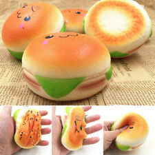 Jumbo Sesame Squishy Hamburger Phone Straps Bread Simulation Soft Bun Key Rings