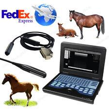New Listingveterinary Bovine Amp Equine Ultrasound Scanner Horse Laptop Machine Rectal Probe