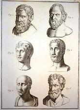 Encyclopédie Méthodique Antiquités Mytologie Têtes Mythologiques Panckoucke 1786