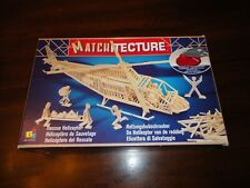 Matchitecture Rescue Helicopter Model Kit #6646 Open Box Contents New