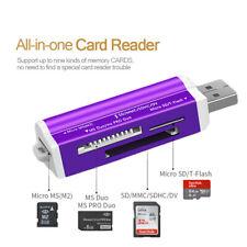 Mini Alu Kartenleser Speicherkarten Adapter SDHC M2 MMC USB Micro SD Card Reader