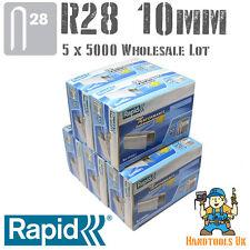 5x 5000 Rapid R28 10mm Cable Staples for R28, Arrow T18, Rapesco CT45  WHOLESALE