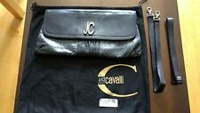 Cavalli Black Leather/Distressed Leather Gold Glitter Handbag VGC RRP £445