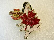 TORONTO,Hard Rock Cafe Pin,Canadian Naked Girl with red Leaf Girl number 2