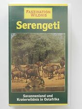 VHS Video Faszination Wildnis Serengeti Savannenland Kraterwildnis in Ostafrika