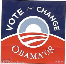 Barack Obama President Vote Change 2008 Bumper Sticker