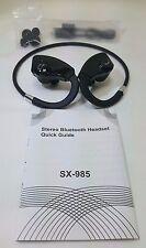 Wireless Sports Bluetooth Headset SX-985 BLACK - NEW