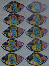 """Satz """"Happy Hippos - Hütchen"""" 1988 alle 10 verschiedenen ungeklebt!!"""