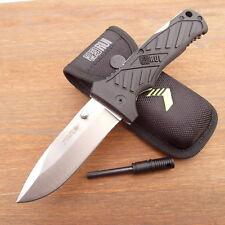 RUI Rui Yowie Black Pocket Messer  Einhandmesser  Taschenmesser + Feuerstarter