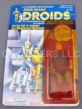 Rare Vintage Star Wars Droids Jord Dusat Unpunched Canada Cardback Kenner 1985