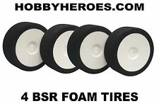 BSR FOAM 1/8 GT TIRES 32 SHORE SHORE MOUNTED ON WHITE DISH RIMS BSRC8032X2 (4)