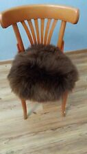 Chair Cushion Seat Cushion Pillow Cushion fur Cushion Lambskin Sheepskin Braun