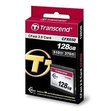 Transcend CFX650 128GB CFast 2.0 Flash Memory Card -TS128GCFX650