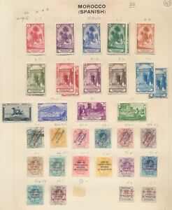 SPANISH MOROCCO STAMPS 1905-1928 INC SPANISH PROTECTORATE SURCH TO 10pts