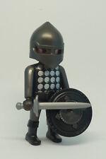 Playmobil J-81 Dark Knight Figure Helmet Sword Shield Castle Soldier