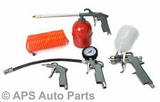 5Pc Air Compressor Tool Kit Gravity Spray Gun Tyre Inflator Duster Fence Hose