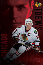 Jonathan Toews RED HOT Chicago Blackhawks NHL Hockey Action Wall POSTER