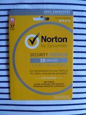 BRAND NEW Norton Security Premium w/ AntiVirus software 10 Devices 1 Year