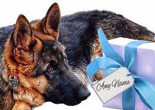 PERSONALISED ALSATION GERMAN SHEPHERD BIRTHDAY CHRISTMAS etc CARD + illus insert