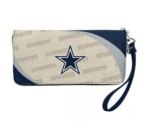 NFL Dallas Cowboys Women Synthetic Leather Curve Zip Organizer Wallet