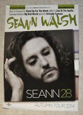 SEANN WALSH - FLYER:  SEANN 28 - AUTUMN TOUR 2014 - LARGE PROMO FLYER