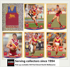 POPULAR-1997 Select AFL Collectable Stickers Base Team Set Brisbane (13)