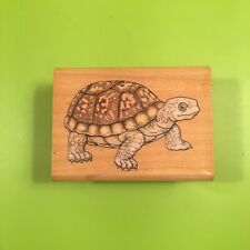 """Rubber Stamp – Tortoise - Wood Block about 2"""" x 2 1/2"""" Arts & Crafts Collectible"""