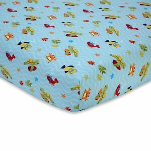 """Carter's Laguna Surfing  Baby Fitted Crib Sheet ONLY-  52"""" x 28"""" SEE DETAILS 👓"""