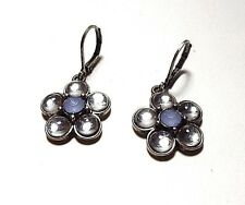 Joan Rivers Classics Collections Simulated Blue Moon Stone Flower Earrings,NWOT