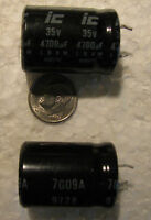 4 Illinois Capacitor 4700uF 35V 85°C snap in 16x31 Electrolytic Capacitors