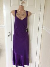 Beautiful Purple Cocktail Dress By Planet Size 12 Immac Hols 25/8 To 4/9