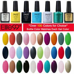 Elite99 UV LED Gel Polish Base Top Colour Coat Lacquer Manicure Salon Nail Art