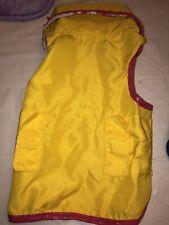 Boots & Barkley Size Small Dog Raincoat. Yellow