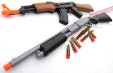 2x Toy Guns Military Police Pump-Action Shotgun & AK-47 Toy Rifle