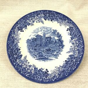 Blue and White Transferware Wedgwood China Dinner Plate Moreton Old Hall England