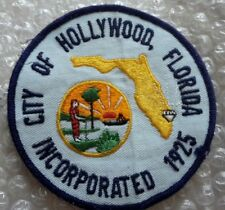 Patch Florida City of Hollywood US Police Patch 100 X 100 mm