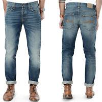 Nudie Herren Slim Fit Jeans -Grim Tim Organic Dark Ropy - W28, W29