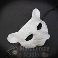 Leopard Haunted Animal Spirit Wall Decoration Halloween Masquerade Mask [White]