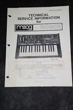 Moog Rogue Factory Technical Info. Service Manual