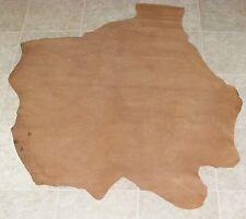 (VXA6999) Part Hide of Light Brown Embossed Cow Leather Hide Skin