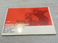 HARLEY Davidson sportster xl1000 xlch1000 1977 owner's manual