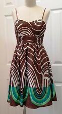 BCBG Spaghetti Strap Padded Bra 100% Silk Fully Lined Dress Size: 6 NWT