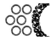 Spiralhaargummi, Haargummi, Spiral-Haargummi schwarz mit weißen Sternen 3 Stück