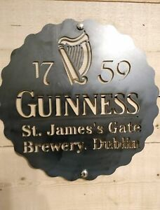 *Premium* Guinness Irish Metal Sign Hand Finished Man Cave Wall Art Bar beer
