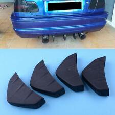4pcs Universal Car Rear Bumper Lip Diffuser Shark Fins Splitter Matte Black